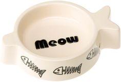 Ферпласт Миска керамическая фигурная для кошек Rigel, 150 мл, 17*12,5*4 см, Ferplast