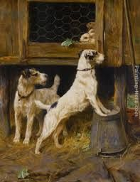 At a Safe Distance by Arthur Wardle (1864-1949)