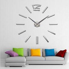 """40 """"h gigantes espelho acrílico relógios de parede adesivo superfície 3d diy…"""