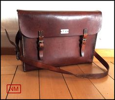 Huge Vintage Swiss Army Tool Bag  Large Leather by NaturaMachinata