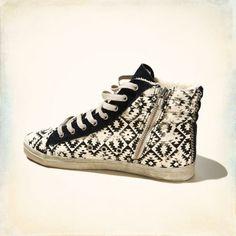 Kim&Zozi Woven Hi Top Sneakers