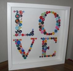 Crafts gifts homemade  'LOVE' button