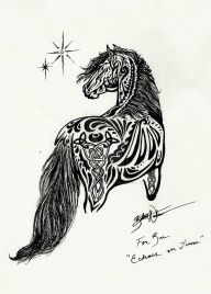 horse tattoo that would be awesome. A little large but maybe a second or third tat if you like them.