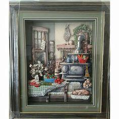 Decoupage Art, Country Kitchens, Dollhouse Furniture, Miniature Dolls, Paper Art, 3 D, Hobbies, Miniatures, Cook