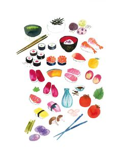 Sushi print by Miss Capricho