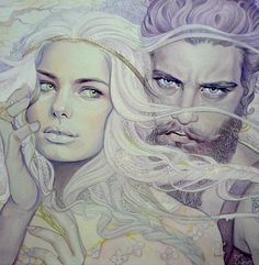 Rhoe Galathynius and Evalin Ashryver<<this is frickin beautiful. Whose the artist???