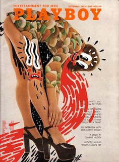 OLD PLAYBOY COVERS, 'DOODLE-BOMBED' Source: Old Playboy covers, 'doodle-bombed' | Dangerous Minds Playboy Cartoons, Vintage Playmates, Collages, Plan Drawing, Playboy Bunny, Illustrations, Photo Illustration, Digital Illustration, Little Tattoos