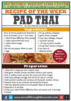 Ideal protein pad thai