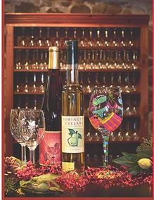 """Robinette's Apple Haus & Winery Wine tasting- Grand Rapids, MI  """"Souvenir Wine Glass & Tasting Sampler - Includes a Taste of 6 Wines $3 per person or $5 per couple.  For groups of 10 or more, the price is $3/person."""""""