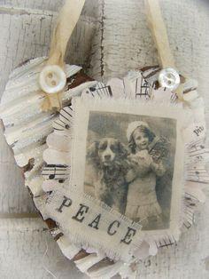 Handmade Christmas Ornament Vintage Style~