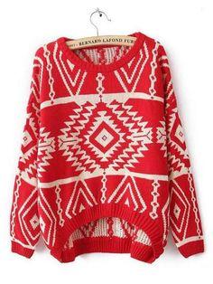 WEALFEEL Retro Print Sweater – WealFeel