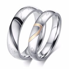 Aooaz Free Engraveing Ring For Women Round CZ zirconia Crystal Love you Wedding Promise Novelty