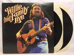 Willie Nelson Willie And Family Live 1978 Columbia 2 Vinyl Record Album Set LP