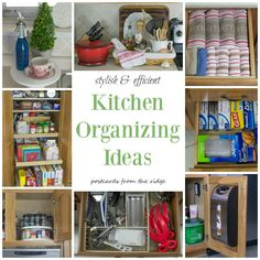 Lots of great organizing ideas for the whole kitchen! Pantry Organization, Organizing Ideas, Small Kitchen Organization, Kitchen Storage, Closet Office, Diy Kitchen Projects, Kitchen Hacks, Home Decor Kitchen, Aqua Kitchen