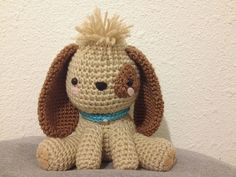 Puppy Crochet - I would put the nose a little lower so it doesn't look like 3rd eye! And no cheek dots if they have to be on the eye patch.