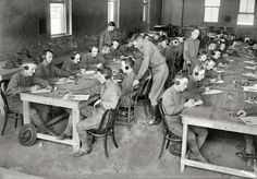 Shorpy Historical Photo Archive :: Texting: 1917 - The 4th guy in is listening to AC/DC