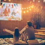 So my Fav thing to do is watch a great movie and Cuddle up! With the weather being so great is time to Bring your movies outside with an outdoor theater! Here's how to make the comfiest and coolest outdoor theater.