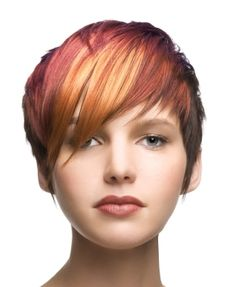 "How to style the Pixie cut? Despite what we think of short cuts , it is possible to play with his hair and to style his Pixie cut as he pleases. For a hairstyle with a ""so chic"" and pointed… Continue Reading → Pixie Haircut For Round Faces, Round Face Haircuts, Hairstyles For Round Faces, Pixie Haircuts, Asymmetrical Hairstyles, Fringe Hairstyles, Funky Hairstyles, Asymmetrical Pixie, Hairstyle Images"