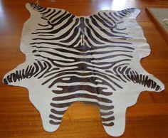 PREMIUM COWHIDE -  IMITATING NATURE - A WONDERFUL CHOCOLATE BASED ZEBRA PRINT #ANIMALIAEXOTICA