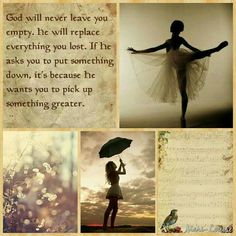 God will never leave. Love Collage, Beautiful Collage, Life Is Beautiful, Uplifting Quotes, Inspirational Quotes, Positive Quotes, Evening Greetings, Abba Father, Word Pictures