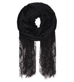 VALENTINO - Pleated cashmere and silk-blend scarf | Selfridges.com