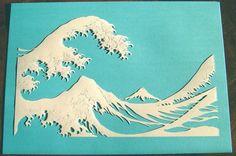 La vague d'après Hokusai, papier découpé