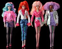 Jem dolls Aja Leith, Kimber Benton, Classic Jem, and Shana Elmsford from the Jem and the Holograms Integrity Toys collection.  Aja, Kimber, and Shana are the second wave coming out approx. March 2013.  Classic Jem was from the first wave, released in December 2012.  #jemdoll #jemdolls #jemandtheholograms