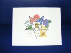 OES floral Note card by OlsenEnterprises on Etsy, $10.00