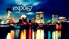 Expo 67 postcard, featuring the Montreal skyline