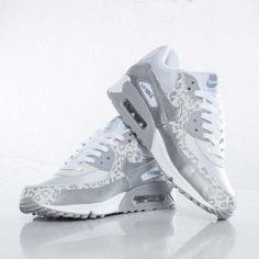 Chaussures Nike Air Max 90 Leopard Gris/Couleur Argent/Blanc HGK078