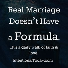 Marriage does not have a formula. It's a daily journey of faith and love. Click to read the post..