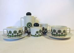 Vintage Bavaria Schirnding coffee set for 2 in by Frenchidyll