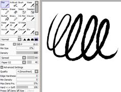 Image result for soft lineart brush sai