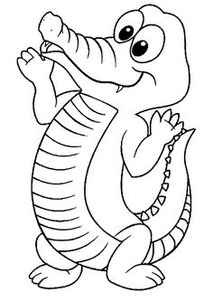 Crocodile Coloring Pages: Here is a collection of crocodile coloring pages to print in their realistic and cartoon forms. Make your world more colorful with free printable coloring pages from italks. Our free coloring pages for adults and kids. Zoo Animal Coloring Pages, Coloring Pages To Print, Free Printable Coloring Pages, Coloring Book Pages, Coloring Pages For Kids, Coloring Sheets, Kids Coloring, Preschool Coloring Pages, Online Coloring