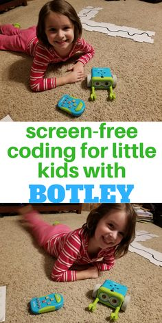 STEM skill building through screen-free play.  Screen-free coding for little kids with Botley from Learning Resources {affiliate} #kids #STEM #coding #Botley #fun #cool