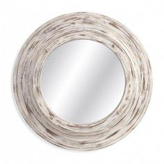 Add this Bassett Mirror Mallory Wall Mirror to your décor for a countryside or beach look. With a thick antique whitewash finished frame that borders around a circular mirrored glass, this charming mirror adds subtle allure to any room. Wall Mirrors Horizontal, Mirror Wall Collage, Mirror Gallery Wall, Wall Mirrors Entryway, White Wall Mirrors, Silver Wall Mirror, Lighted Wall Mirror, Rustic Wall Mirrors, Round Wall Mirror