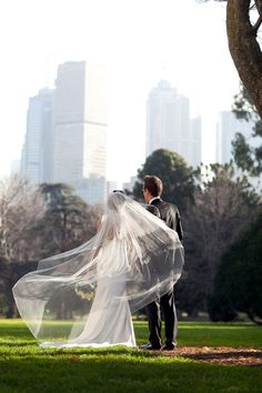Pencil Edge 125 Inch Long Cathedral Veil with Blusher on Etsy, $105.00