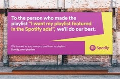 Spotify Campaign by Christopher Doyle & Co. — The Brand Identity Web Banner Design, Design Web, Funny Advertising, Creative Advertising, Advertising Campaign, Advertising Ideas, Advertising Design, Spotify Billboards, Funny Billboards
