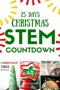 25 Days of Christmas STEM Countdown Calendar Science Advent~ what a great way to count down the days!