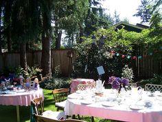 Beautiful Tea party garden