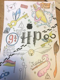 Garabatos de Harry Potter - Garabatos de Harry Potter Imágenes efectivas que le proporcionamos sobre healthy lunch ideas Una im - Harry Potter Tumblr, Harry Potter Drawings Easy, Harry Potter Sketch, Harry Potter Memes, Harry Potter Thema, Arte Do Harry Potter, Harry Potter Painting, Cute Harry Potter, Harry Potter Journal