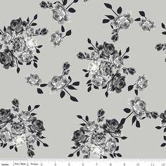 Idle Wild Main Grey Knit by Riley Blake by YouMadeSomething