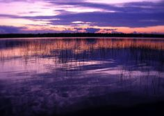 Sunset over Trout Lake, Upper Peninsula, Michigan, 5x7 Color Photograph