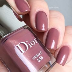 Dior Nail Polish, Dior Nails, Simple Acrylic Nails, Simple Nails, Classy Nails, Trendy Nails, Dior Addict, Nail Paint Shades, Cute Pink Nails