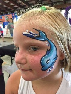 Face Painting Designs, Paint Designs, Mime Face Paint, Sea Theme, Child Face, Ocean Themes, Sea Creatures, Painting Inspiration, Artsy Fartsy