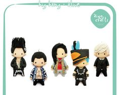 Kpop Polymer Clay Big Bang Bae Bae bijou portable par AigoCrafts
