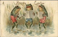 Easter-Fantasy-Frogs-Singing-c1910-Postcard-jrf