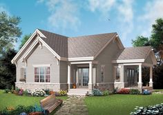 House Plan 65524, Order Code PT101 | Bungalow Country Craftsman Plan with 1134 Sq. Ft., 1 Bedrooms, 1 Bathrooms