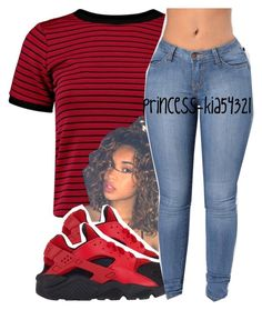 """""""*"""" by princess-kia54321 ❤ liked on Polyvore featuring Boohoo and NIKE"""