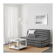 IKEA LYCKSELE LÖVÅS sofá cama 2 plazas Un sencillo colchón firme de espuma para usar a diario. Cama Ikea, Sleeper Sofa, Sofa Bed, Convertible 2 Places, Cama Box, Guest Room Office, Black Sofa, Guest Bed, Houses